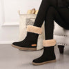 Fashion casual flat boots non-slip plus velvet thickened tube snow boots