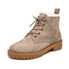 New Martin boots female winter thick with wool warm snow boots frosted leather retro British wind low boots