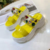 One-line wedge with casual women's sandals