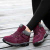 2019 autumn and winter new flat heel velvet warm non-slip middle-aged walking shoes
