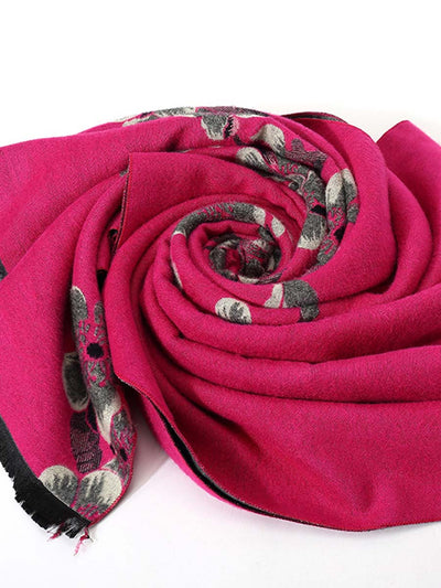 2019 autumn and winter new imitation cashmere ladies cashmere scarf thick warm double-sided dual-use plum blossoms