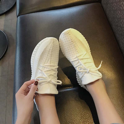 Autumn new shallow mouth breathable casual shoes low-top flat heel non-slip sneakers