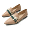 Sexy pointed belt buckle color matching casual soft bottom shoes
