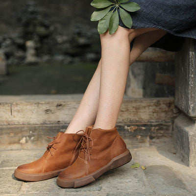 2019 new wild Martin boots female short boots single shoes retro art autumn and winter new flat boots 02