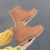 2019 autumn and winter new fashion casual tie thick heel Martin boots female boots