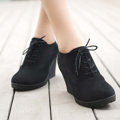 2019 new autumn and winter stretch matte wedge bare boots