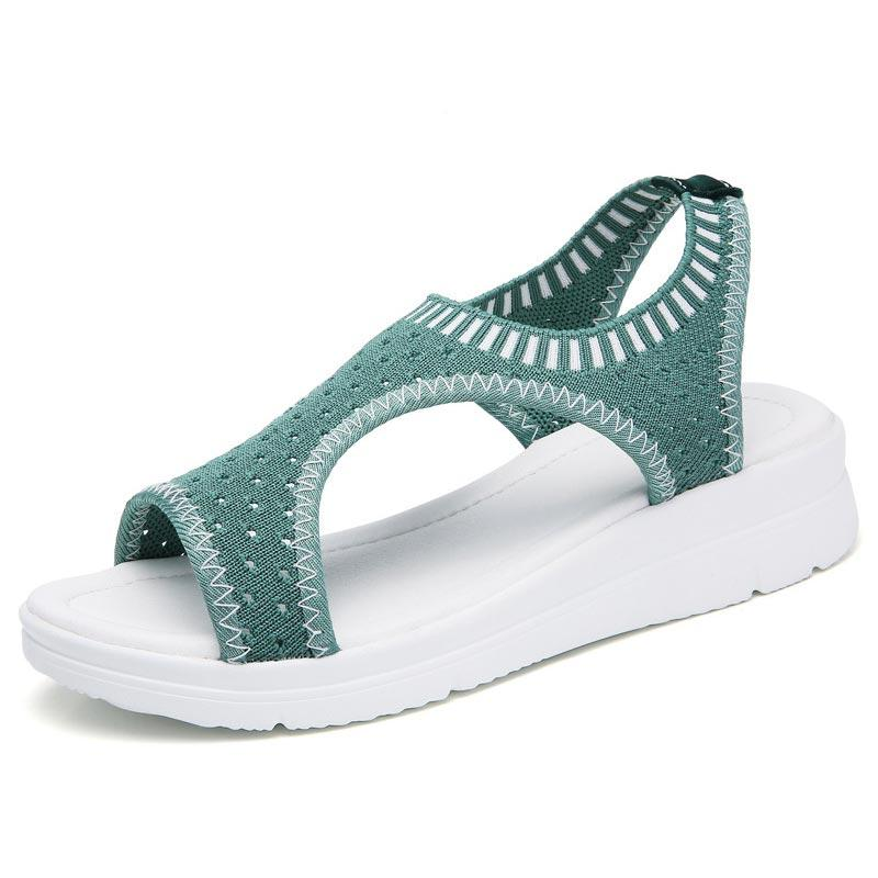 Casual Solid Color Breathable Hollow Open Toe Sport Sandals