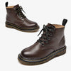 Autumn and winter new England Martin boots women's leather boots with flat high-top women's shoes boots