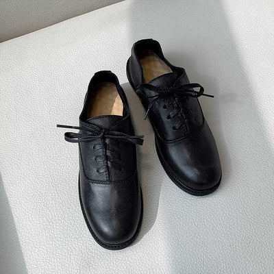 Retro flat round British shoes
