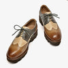 Spring 2020 New Retro Brock Colorblock Genuine Leather British Flat Oxford Women's Leather Shoes