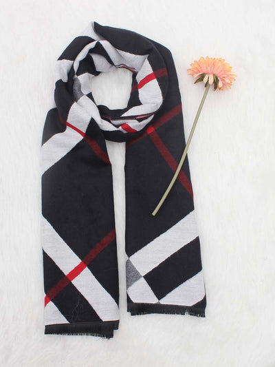 2019 autumn and winter new imitation cashmere scarf classic plaid thick warm jacquard female tassel shawl