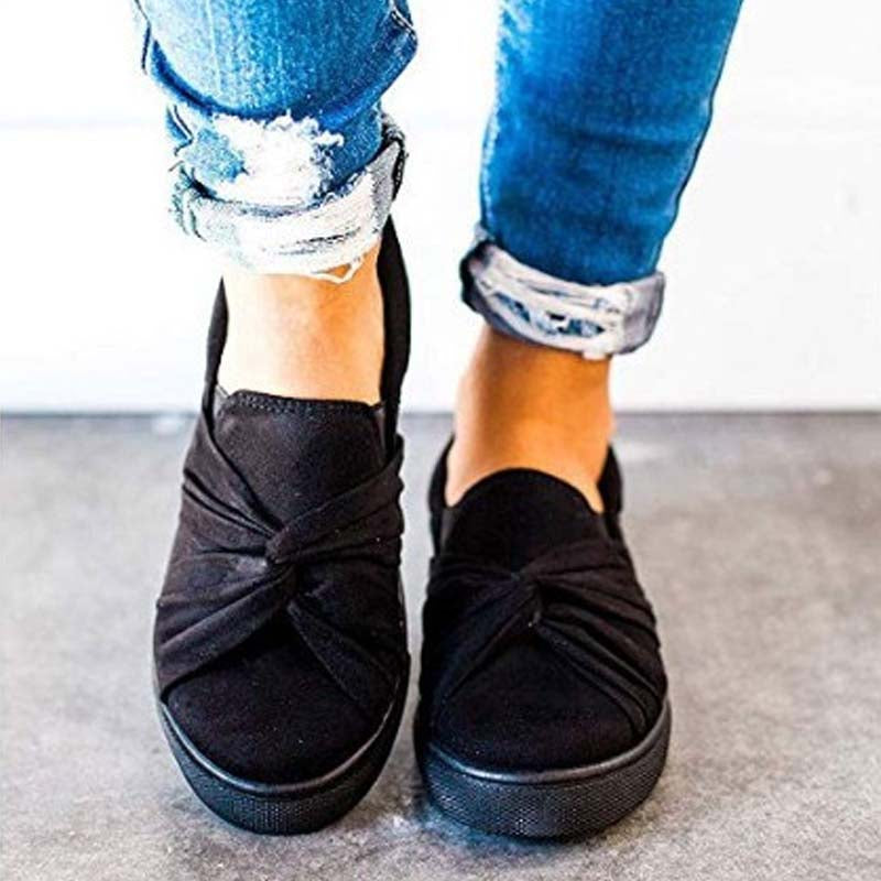 Casual suede shallow mouth anti-slip flat bottom shoes