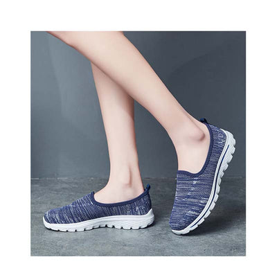 Breathable mesh running fly weaving casual shoes