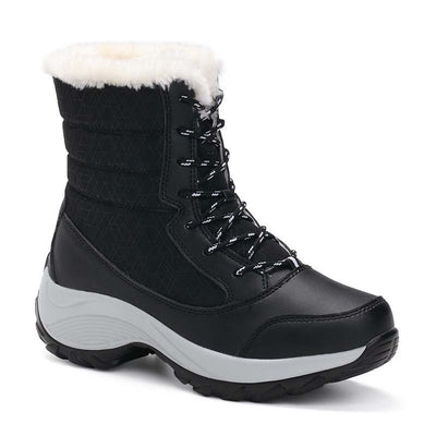 Winter new high-top plus velvet flat heel Martin boots warm cotton shoes snow boots