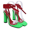 Fairy style open toe buckle high heels