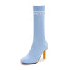 New fashion stiletto round head slimming wild socks in the boots