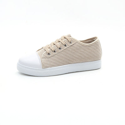 Canvas flat-bottomed student versatile sneakers