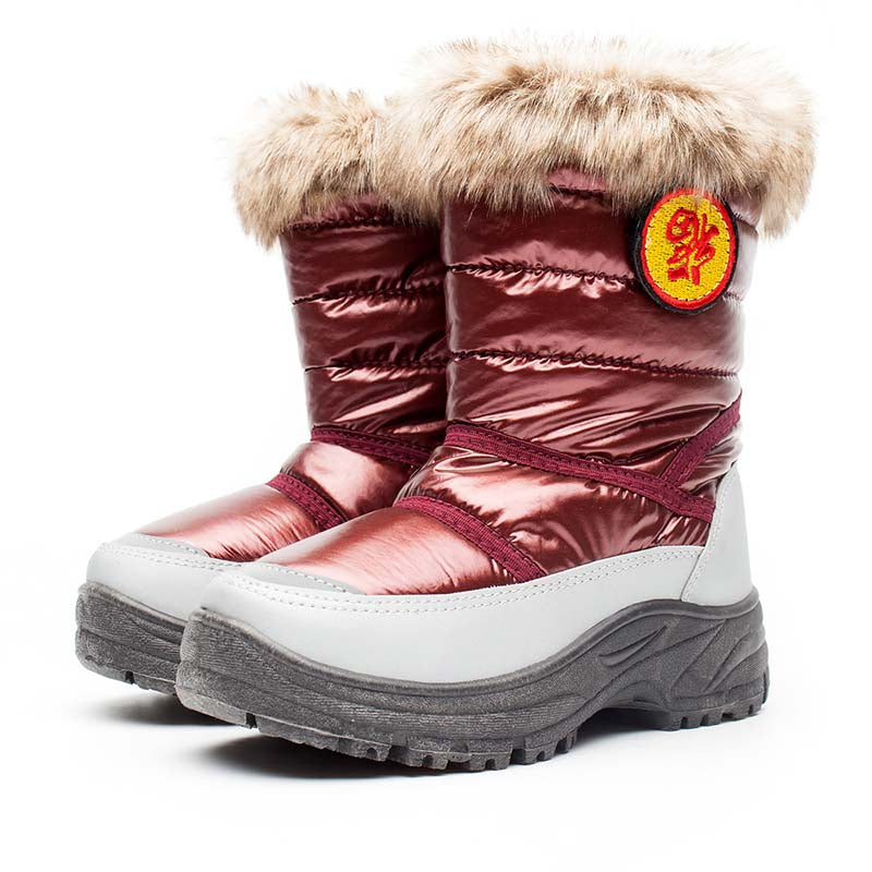 Winter fashion new plus cotton warm and comfortable non-slip children snow boots