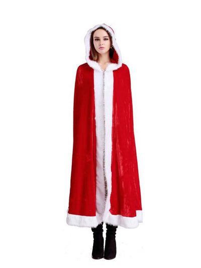 Christmas Adult Children Red Prom Cloak Sexy Cloak Christmas Boutique Cloak