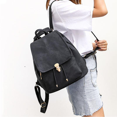 2020 New PU Backpack Vintage Women's Imitation Denim Suit Backpack
