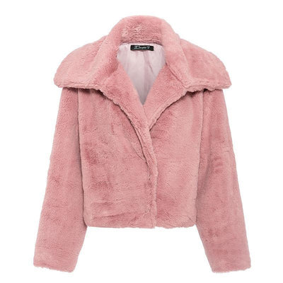 Winter women's jacket autumn and winter thick women's jacket short jacket faux fur plush warm jacket