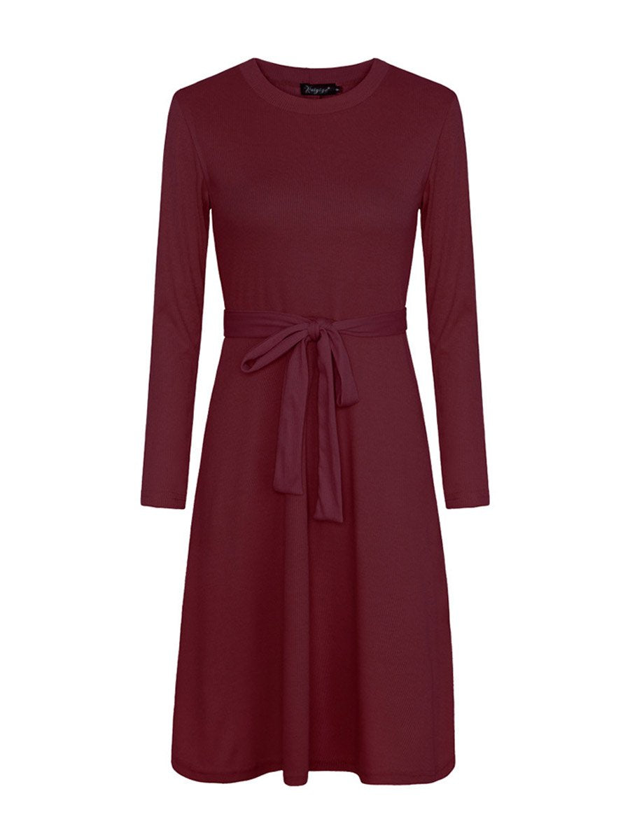 2019 autumn and winter fashion slim straps long sleeve dress waistline