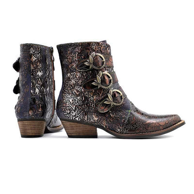 2019 new casual leather  retro classic ladies high-end flat women's boots
