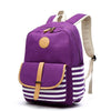 New Korean canvas rucksack literary printed canvas schoolbag student backpack