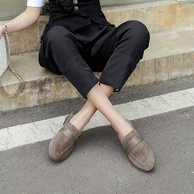Thick and fall simple casual fashion loafers
