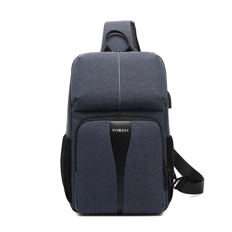 Multi-function waterproof chest bag reflective single-shoulder cross-body bag large capacity travel anti-theft chest bag man