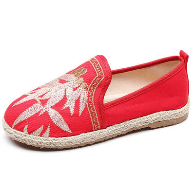 New ethnic style Hanfu cotton and linen embroidered cloth shoes