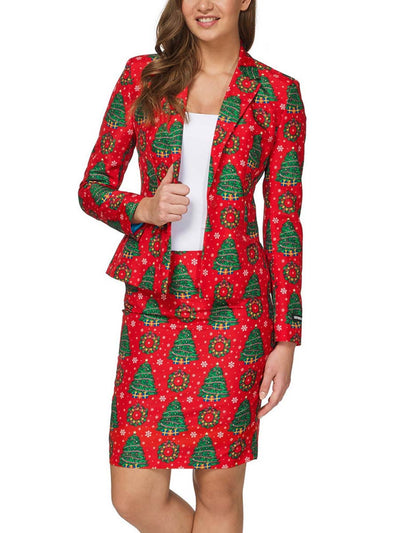 2019 autumn and winter new Christmas small suit fashion women's suit