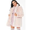 Women's Long Sleeve Solid Color Winter Warm Coat Outwear with Pocket Overcaot
