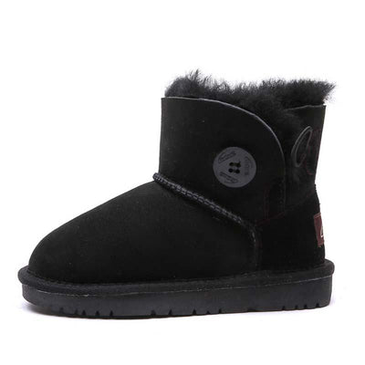 2019 new sheep fur one child soft anti-skiing boots