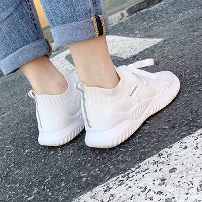 Spring and summer new low heel light mouth solid color casual shoes breathable sneakers