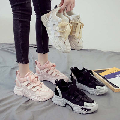 2019 winter new warm ladies plus velvet cotton shoes wild casual sneakers