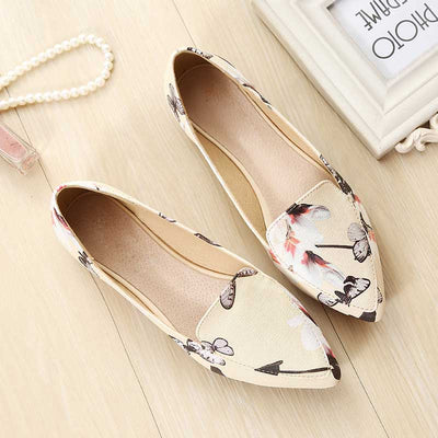 Flower patent leather shallow mouth women's shoes