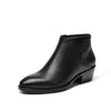 2019 new autumn and winter leather wild fashion British wind thick with retro boots women