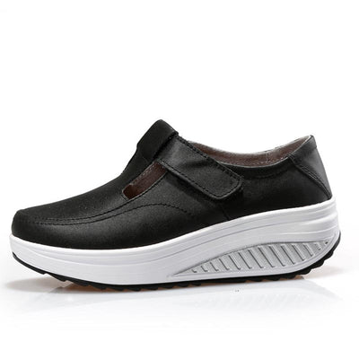 Waterproof thick bottom non-slip running shoes
