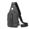 Chest bag male large capacity single-shoulder bag anti-theft multi-function small backpack retro wear - resistant sports cross-body bag