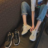 Autumn new casual flat heel round head tide shoes breathable knitted sports shoes