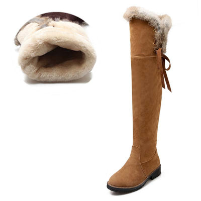 2019 winter new snow boots warm plus velvet thick long tube over the knee boots cotton boots