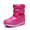 Autumn and winter waterproof anti-skiing boots thick wool parent-child boots