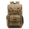 Waterproof canvas SLR digital camera backpack for men and women