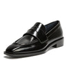 Comfortable soft bottom low heel square loafers
