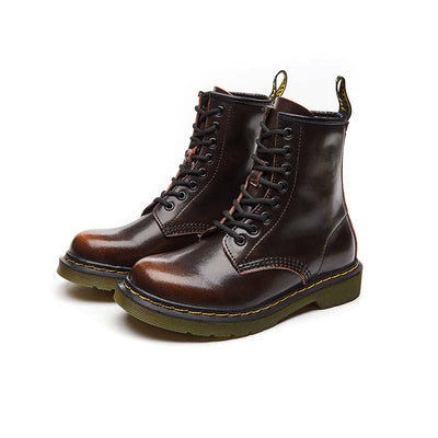 New leather retro soft bottom motorcycle rider boots