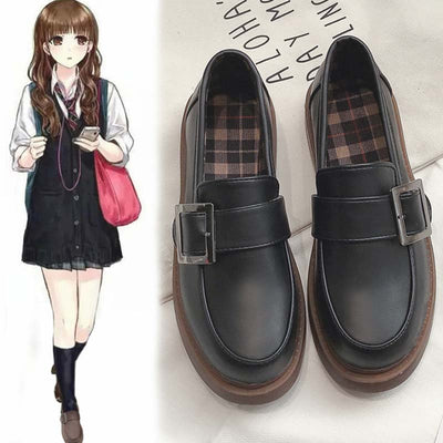 Flat bottom wild black small shoes