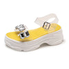 Fashion rhinestones comfortable open toe transparent sandals