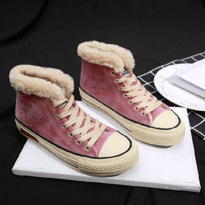 2019 autumn and winter new student Korean version plus velvet canvas shoes