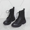 2019 new British wind handsome Martin boots Middle heel low-tube locomotive boots
